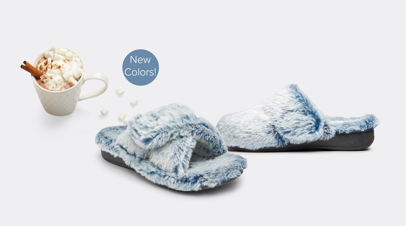 Vionic Gemma and Relax plush slippers