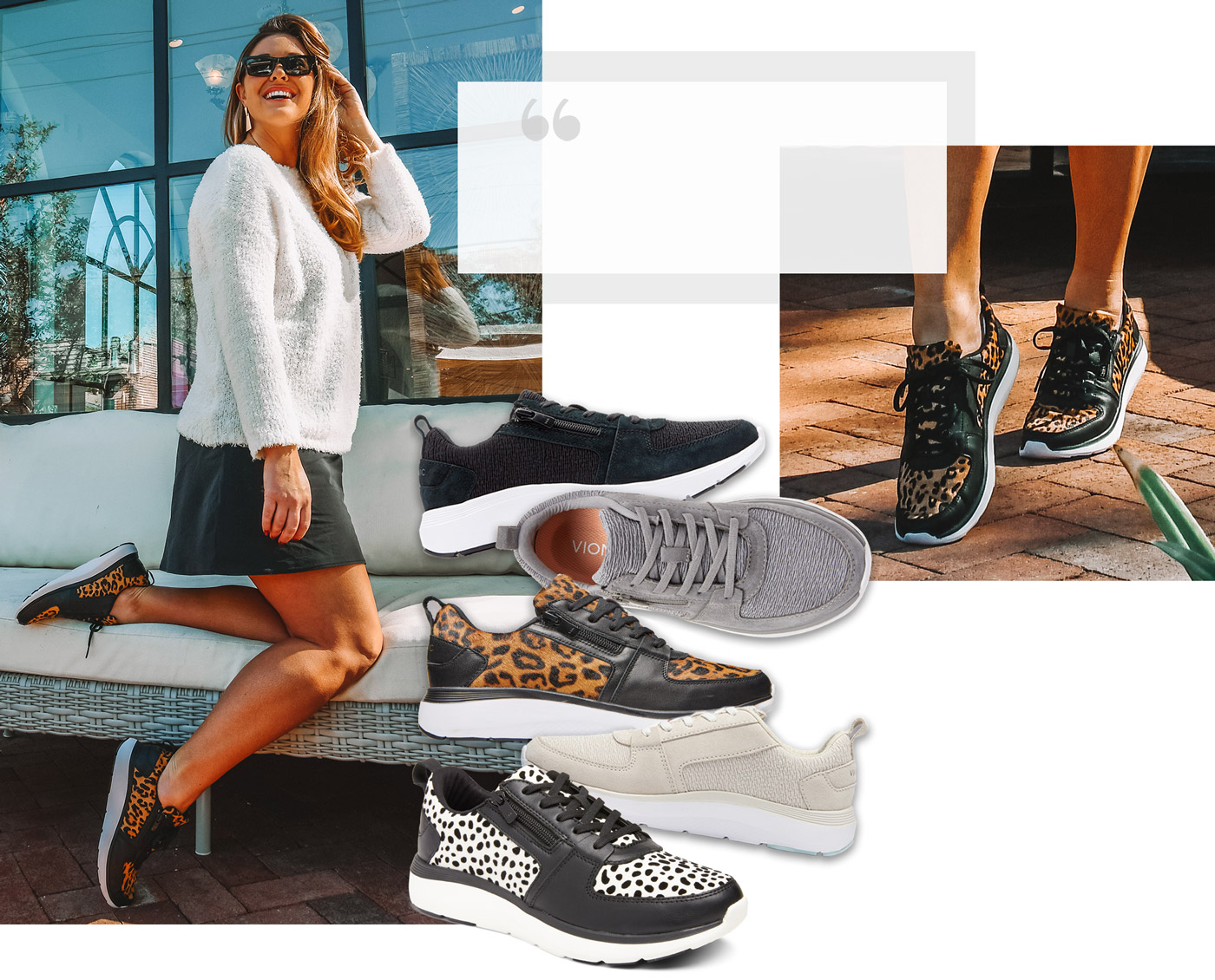 Jac styles the Vionic Remi trainers