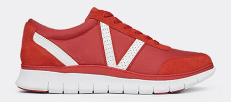 View Men's Ansel red trainer
